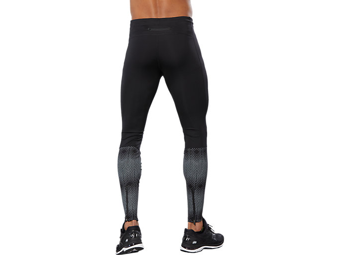 Back view of RACE TIGHT, PERFORMANCE BLACK