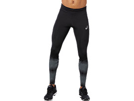Front Top view of RACE TIGHT, PERFORMANCE BLACK