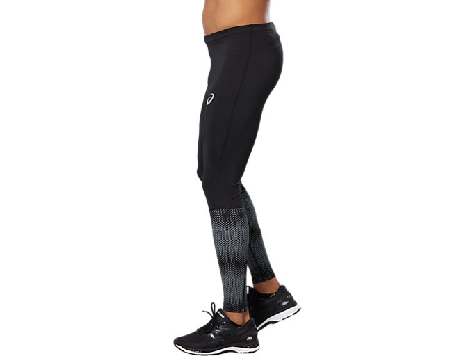 Side view of RACE TIGHT, PERFORMANCE BLACK