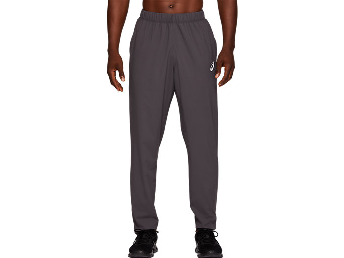 Front Top view of SPORT WOVEN PANT, DARK GREY