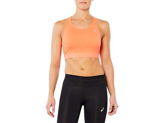 SPORT BRA TOP, FLASH CORAL