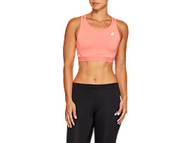 Front Top view of SPORT BRA TOP, PAPAYA