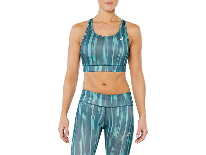 SPORT SPRINT BRA, GREEN SHADOW PRINT