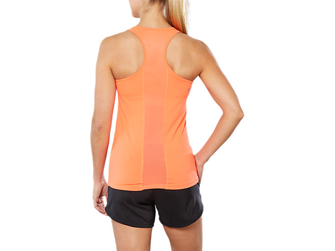 Back view of SPORT 2-IN-1 TANK TOP, FLASH CORAL