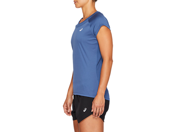 Side view of CAPSLEEVE TOP, GRAND SHARK