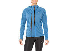 Front Top view of ACCELERATE JACKET, AZURE