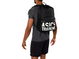 ASICS BIG LOGO BACKPACK, PERFORMANCE BLACK
