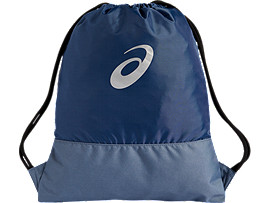 Front Top view of COLOR BLOCK GYMSACK, GRAND SHARK/STEEL BLUE