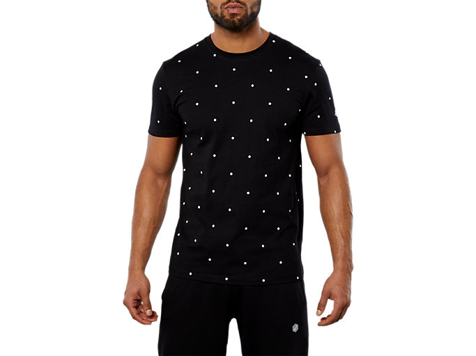 ASICS LOGO ICON TEE, PERFORMANCE BLACK