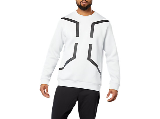SPORT HEX LS CREW TOP, GLACIER GREY