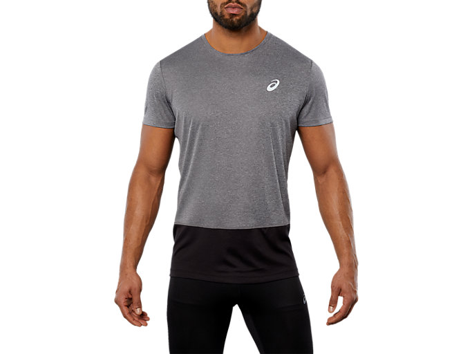 SPORT CB TEE, DARK GREY HEATHER