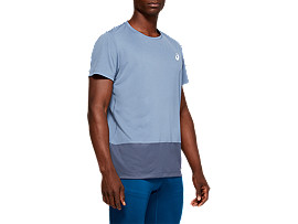 Front Top view of SPORT CLBL TEE, STEEL BLUE/TARMAC