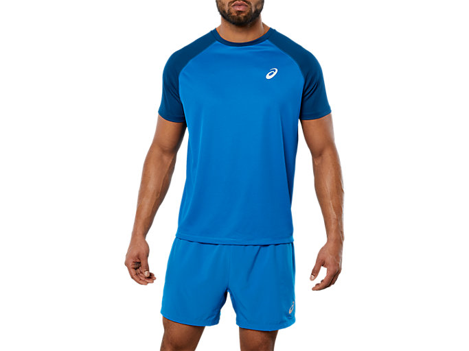 SPORT RUN CB TEE, RACE BLUE