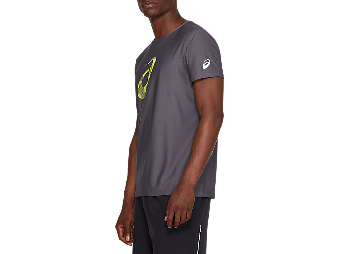 Side view of SPORT GPX SS TOP, DARK GREY/SAFETY YELLOW