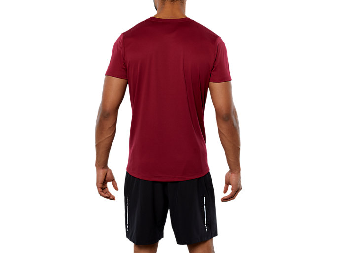Back view of SPORT GPX RUN SS TOP, CORDOVAN