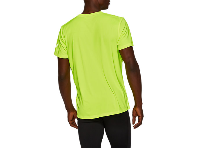 Back view of SPORT GPX RUN SS TOP, SAFETY YELLOW/MAKO BLUE