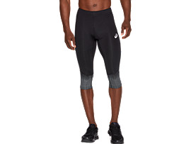 Front Top view of SPORT RACE KNEE TIGHT, PERFORMANCE BLACK
