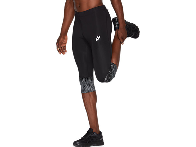 Side view of SPORT RACE KNEE TIGHT, PERFORMANCE BLACK