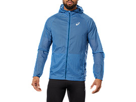 Front Top view of SPORT LW HD JKT, AZURE