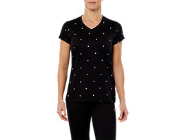 SPORT ICON DRESS TEE, PERFORMANCE BLACK