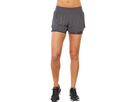 SPORT 2-IN-1 SHORT, DARK GREY