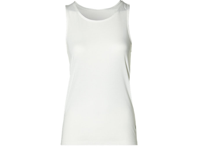Front Top view of SPORT DRAPE TANK, CREAM