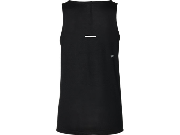 Back view of SPORT DRAPE TANK, PERFORMANCE BLACK