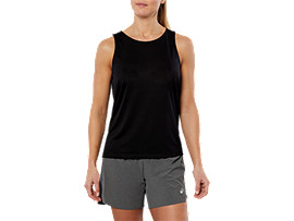 SPORT DRAPE TANK, PERFORMANCE BLACK