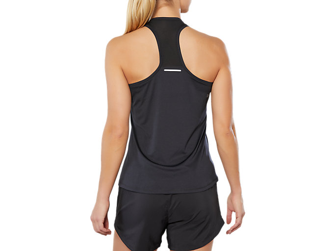 Back view of SPORT REFLECTIVE TANK, PERFORMANCE BLACK