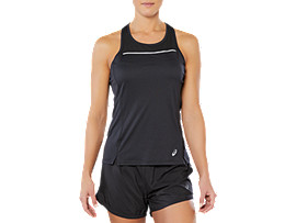 SPORT REFLECTIVE TANK, PERFORMANCE BLACK