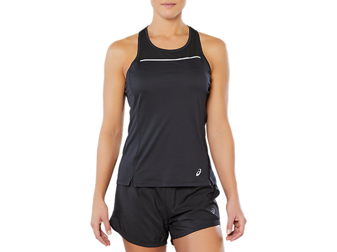 Front Top view of SPORT REFLECTIVE TANK, PERFORMANCE BLACK