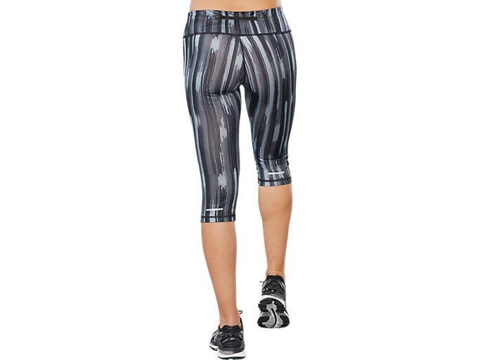 Back view of SPORT GPX KNEE TIGHT, GREY SHADOW PRINT