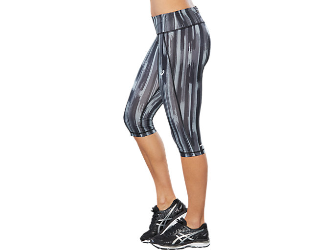 Side view of SPORT GPX KNEE TIGHT, GREY SHADOW PRINT