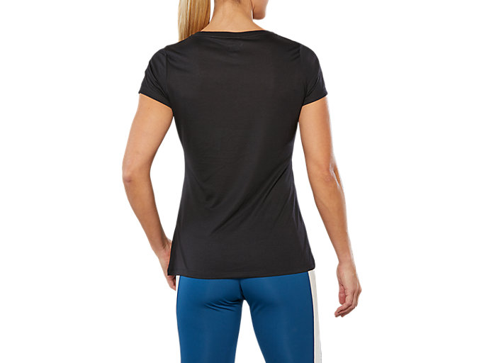 Back view of SPORT TRAIN TOP LOGO, PERFORMANCE BLACK