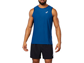 Front Top view of SPORT SINGLET, POSEIDON