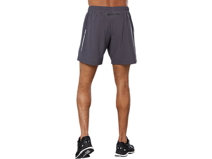 Back view of SPORT WOVEN 2-IN-1 SHORT, DARK GREY