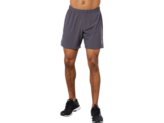 Front Top view of SPORT WOVEN 2-IN-1 SHORT, DARK GREY