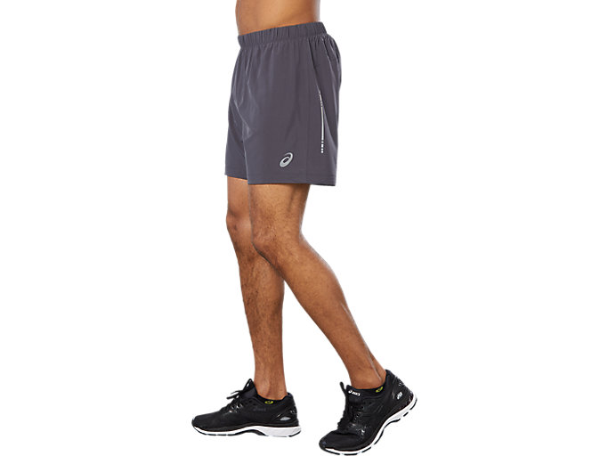 Side view of SPORT WOVEN 2-IN-1 SHORT, DARK GREY
