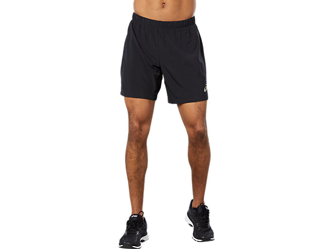 Front Top view of SPORT WOVEN 2-IN-1 SHORT, PERFORMANCE BLACK