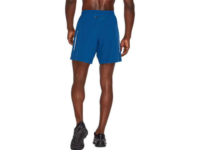 Back view of SPORT WOVEN 2-IN-1 SHORT, MAKO BLUE