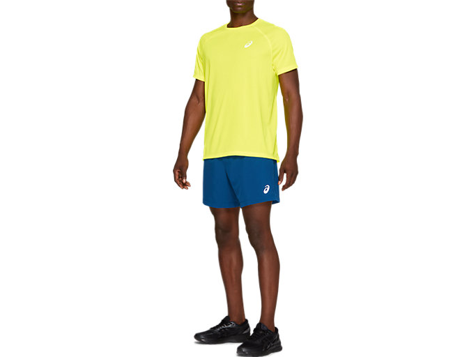 Front Top view of SPORT WOVEN 2-IN-1 SHORT, MAKO BLUE