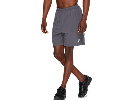 Front Top view of SPORT 7INCH RUN SHORT, DARK GREY