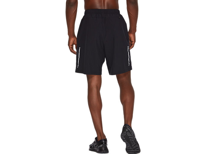 Back view of SPORT 7INCH RUN SHORT, PERFORMANCE BLACK