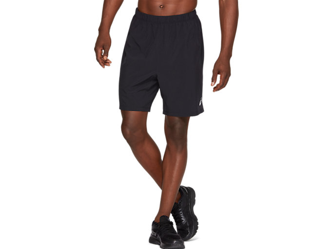 Front Top view of SPORT 7 INCH RUN SHORT, PERFORMANCE BLACK