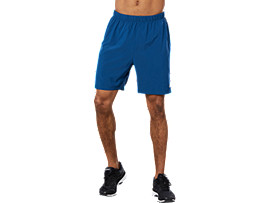 Front Top view of SPORT 7INCH RUN SHORT, POSEIDON