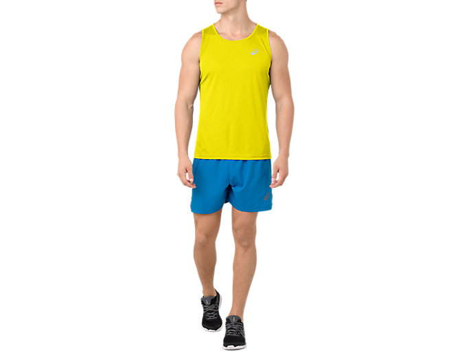 Front Top view of SILVER SINGLET, LEMON SPARK