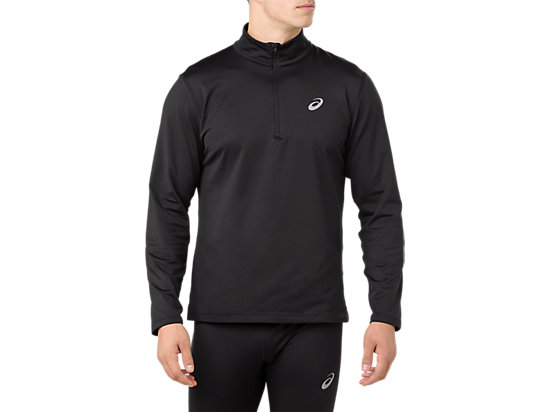 SILVER LS 1/2 ZIP WINTER TOP, PERFORMANCE BLACK