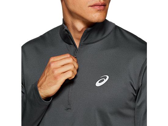 Silver Long Sleeve 12 Zip Winter Top | Dark Grey | Men's