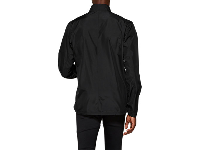 Back view of SILVER JACKET, PERFORMANCE BLACK