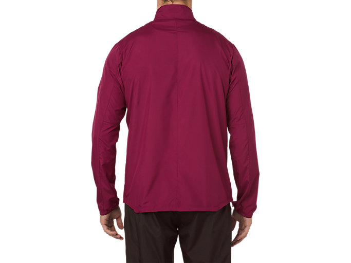Back view of SILVER JACKET, CORDOVAN